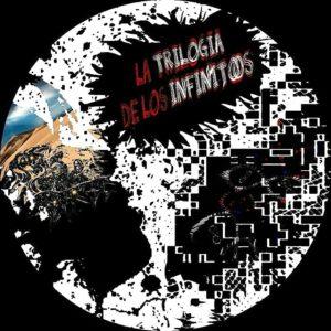 Este es un collage de las imágenes de las portadas de la Trilogía de los Infinitos